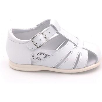 Chaussures Enfant Sandales et Nu-pieds Boni Classic Shoes Sandales en cuir à boucles - LOU II Blanche
