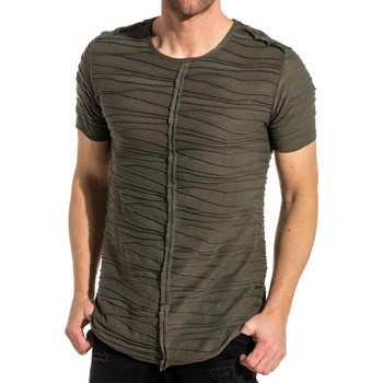 Vêtements Homme T-shirts manches courtes Ikao Tee-shirt kaki oversize maille relief vert