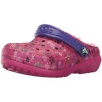 Chaussures Fille Sandales et Nu-pieds Crocs KID'S CLASSIC FUZZ LINED GRAPHIC CLOG Rose