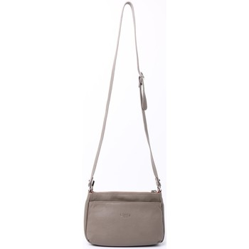 Sacs Femme Besaces Cherry Paris LUCILE Sac travers multi poche Taupe