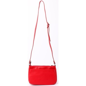 Sacs Femme Besaces Cherry Paris LUCILE Sac travers multi poche Rouge