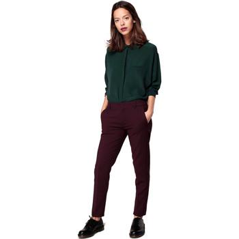 Vêtements Femme Chinos / Carrots Reiko LIZZY COLOR Bordeaux