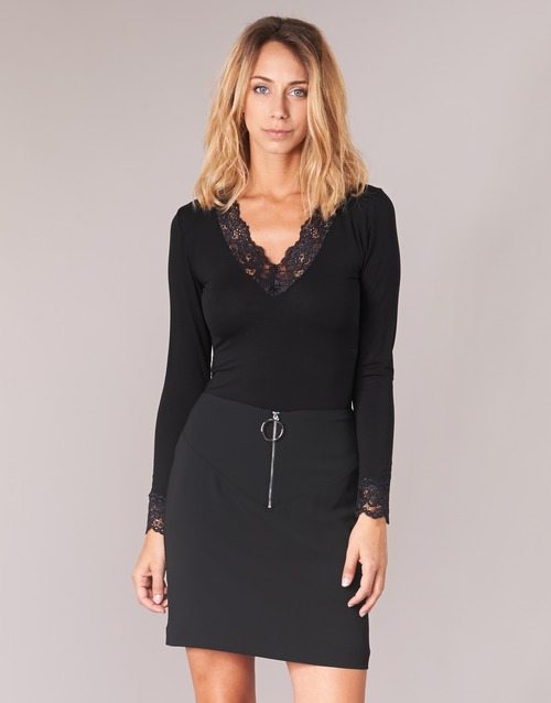 Vêtements Femme T-shirts manches longues Morgan TRACY Noir