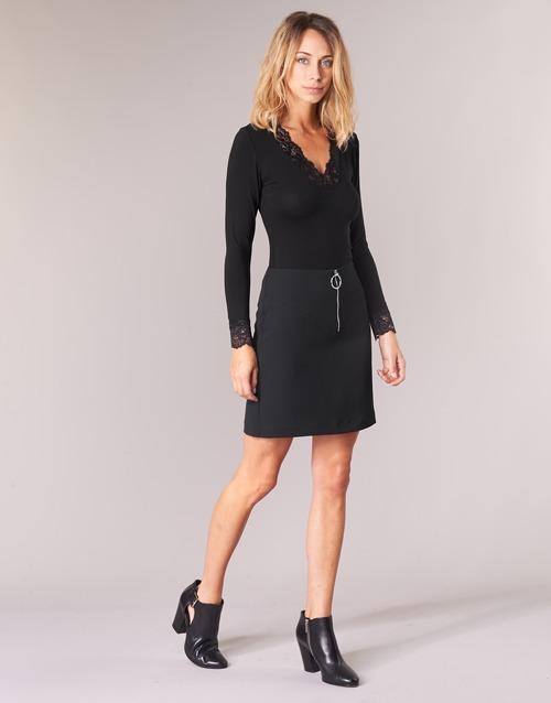 Longues Noir T Femme Manches shirts Morgan Tracy TJuc15lKF3