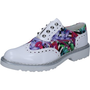 Chaussures Femme Derbies Cult élégantes blanc cuir brillant multicolor textile BZ264 multicolor