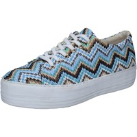 Chaussures Femme Baskets basses Cult chaussures femme  sneakers multicolor rafia BZ266 multicolor