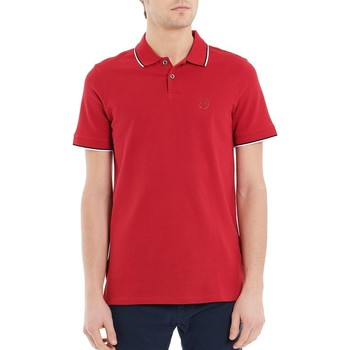 Vêtements Homme Polos manches courtes Armani Exchange POLO PIPING COL ROUGE