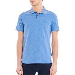 Vêtements Homme Polos manches courtes Armani Exchange POLO PIPING COL BLEU ROI