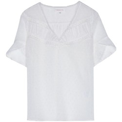 Vêtements Femme Tops / Blouses Grace & Mila TOP TRANSPARENT COL V PEROU ECRU