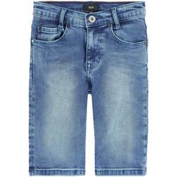 Vêtements Garçon Shorts / Bermudas HUGO Bermuda en jean Hugo Boss Junior - Ref. J24544-Z25J Bleu