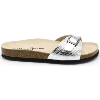 Chaussures Femme Mules Pepe jeans MULE OBAN CRACK ARGENT