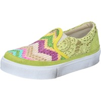 Chaussures Femme Slip ons 2star chaussures femme 2 STAR slip on jaune textile daim BZ524 jaune