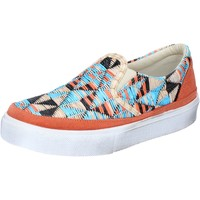 Chaussures Femme Slip ons 2 Stars slip on multicolor textile daim BZ532 multicolor