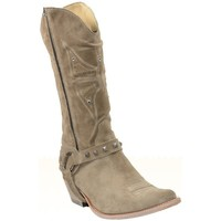 Chaussures Femme Bottes ville Sancho Boots Santiag en cuir vachette ref_san27591-beige Beige