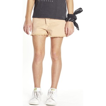 Vêtements Fille Shorts / Bermudas Deeluxe Short effiloché Curry rose