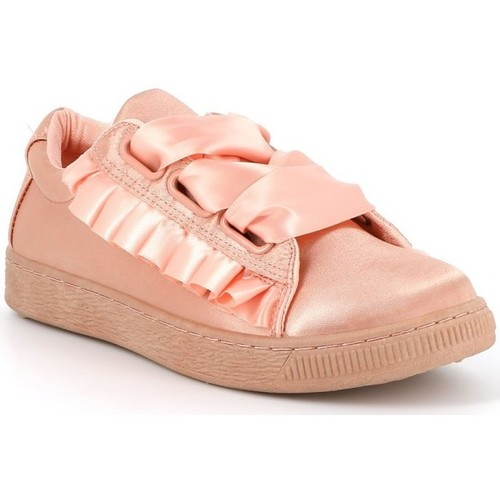 Cassis Côte D'azur Baskets satin WARDO Rose - Chaussures Baskets basses Femme