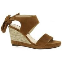 Chaussures Femme Sandales et Nu-pieds Vidi Studio Nu pieds cuir velours Cognac