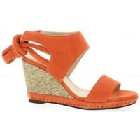 Chaussures Femme Sandales et Nu-pieds Vidi Studio Nu pieds cuir velours  cail Corail