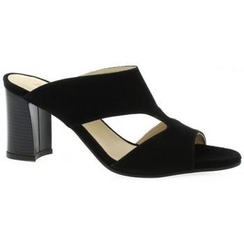 Chaussures Femme Sandales et Nu-pieds Vidi Studio Mules cuir velours Noir