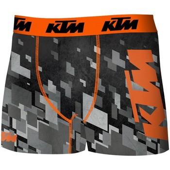 Vêtements Homme Boxers / Caleçons Ktm Boxer Homme Microfibre PIX Gris Noir Gris