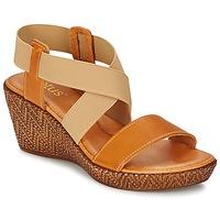 Chaussures Femme Sandales et Nu-pieds Lotus EMILIANO Marron / Beige