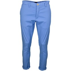 Vêtements Homme Chinos / Carrots Gant Pantalon chino  bleu slim pour homme Bleu