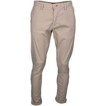 Vêtements Homme Chinos / Carrots Gant Pantalon chino  beige slim pour homme Bleu