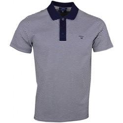 Vêtements Homme Polos manches courtes Gant Polo  rayé bleu marine et blanc pour homme Bleu