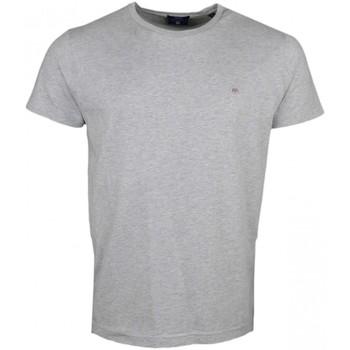 Vêtements Homme T-shirts manches courtes Gant T-shirt col rond  gris pour homme Gris