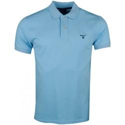 Vêtements Homme Polos manches courtes Gant Polo  basique bleu turquoise pour homme Bleu