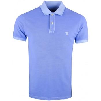Vêtements Homme Polos manches courtes Gant Polo  basique bleu ciel vieilli pour homme Bleu