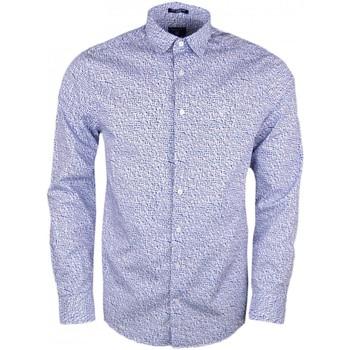 Vêtements Homme Chemises manches longues Gant Chemise  imprimé fleuri bleu pour homme Bleu