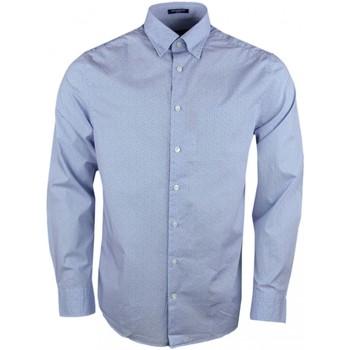 Vêtements Homme Chemises manches longues Gant Chemise  bleu à motif pour homme Bleu marine