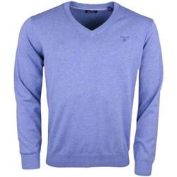 Vêtements Homme Pulls Gant Pull col V  bleu pour homme Bleu