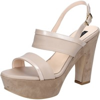Chaussures Femme Sandales et Nu-pieds Albano chaussures femme  sandales beige cuir daim BZ609 beige