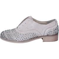 Chaussures Femme Derbies Onako' chaussures femme ONAKO' élégantes gris cuir borchie BZ629 gris