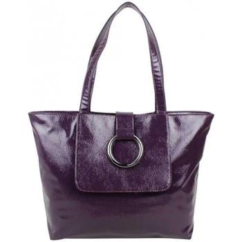 Sacs Femme Cabas / Sacs shopping Sequoia Sac cabas verni souple avec anneau Violet