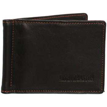 Sacs Portefeuilles Arthur & Aston Porte-cartes Arthur et Aston en cuir ref_ast42541 marron-orange