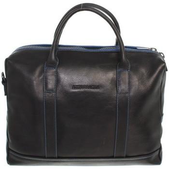 Sacs Porte-Documents / Serviettes Arthur & Aston Serviette Arthur et Aston cuir ref_ast42517 D Noir-Bleu 36*30*6 Noir-bleu