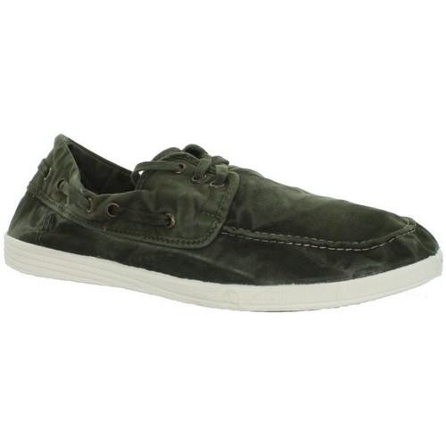 80cfb6e4e30 Chaussures Homme Mocassins Natural World Bateau ref natural43078-622 Kaki  vert