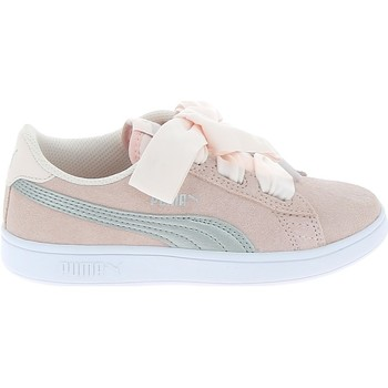 Chaussures Enfant Baskets basses Puma Smash V2 Ribbon C Rose Rose