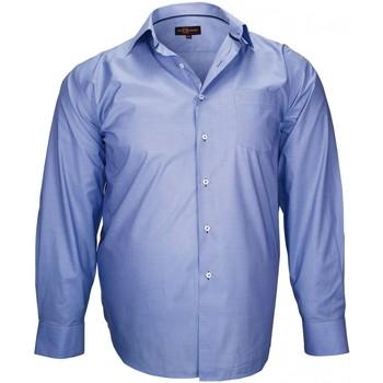Vêtements Homme Chemises manches longues Doublissimo chemise haut de gamme london bleu Bleu
