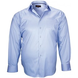 Vêtements Homme Chemises manches longues Doublissimo chemise haut de gamme lon bleu Bleu