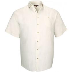 Vêtements Homme Chemises manches courtes Doublissimo chemisette 100% lin monte carlo beige Beige