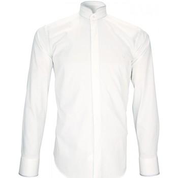 Vêtements Homme Chemises manches longues Andrew Mc Allister chemise habillee breafter blanc Blanc