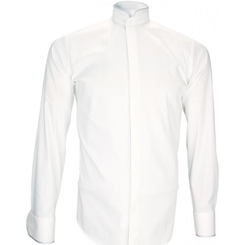 Vêtements Homme Chemises manches longues Andrew Mc Allister chemise habillee breafter blanc Blanc