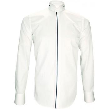 Vêtements Homme Chemises manches longues Andrew Mc Allister chemise ceremonie kenneth blanc Blanc