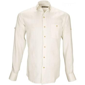 Vêtements Homme Chemises manches longues Emporio Balzani chemise 100% lin san remo beige Beige