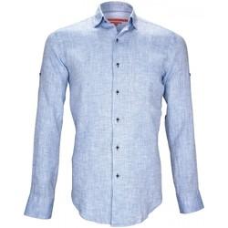 Vêtements Homme Chemises manches longues Andrew Mc Allister 100% lin gao bleu Bleu