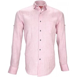 Vêtements Homme Chemises manches longues Andrew Mac Allister chemise 100% lin gao rose Rose